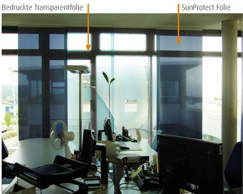 Vital-Office Sun Protect acoustic foils in project Optima