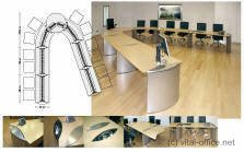 circon executive conference modular conference tables for training rooms