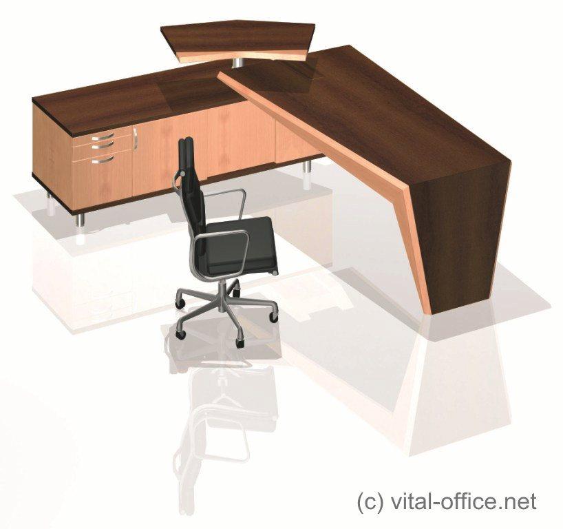 Vital Office circon executive desk in wing design design