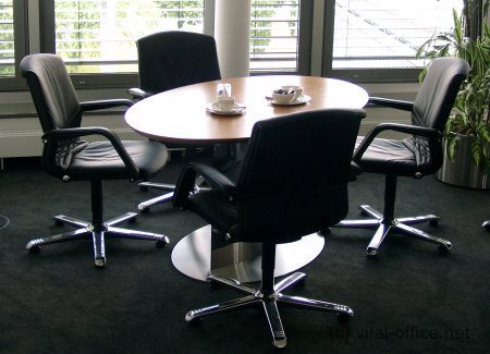 circon executive conference meeting tables ellipse and round table - Small Conference Table