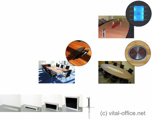 Vital Office - conference tables media centers control boxes flip-up ...